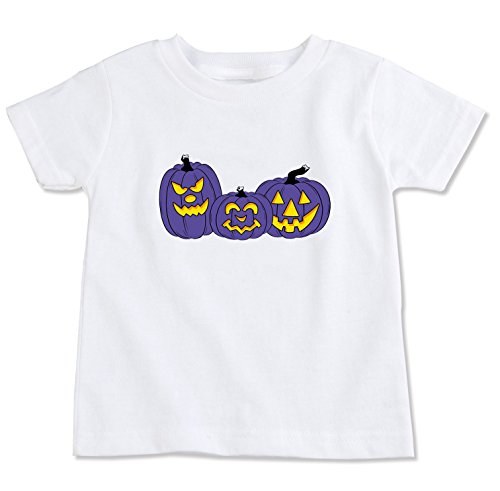 Purple Jack O Lantern Halloween Pumpkins Organic Cotton Toddler T Shirt -