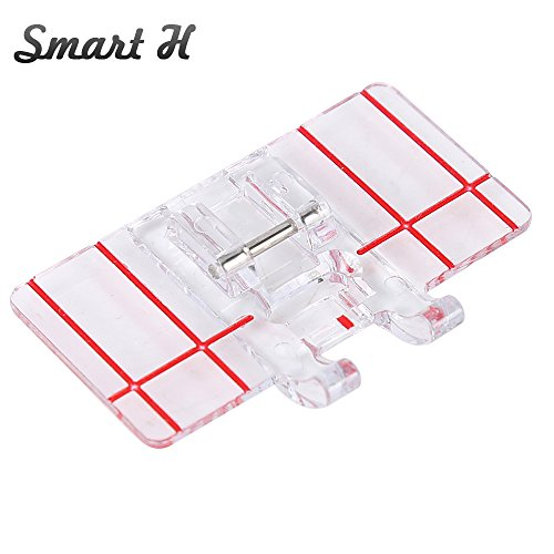 Smart H Border Guide Sewing Machine Presser Foot - Fits All Low Shank Snap-On Singer, Brother, Babylock, Euro-Pro, Simplicity, White, Janome, Kenmore, Juki, New Home