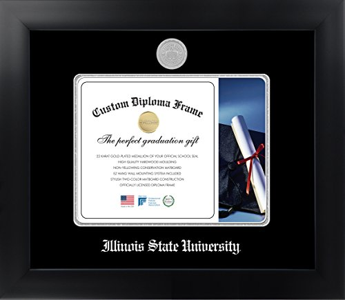 Illinois State University 8 x 10 Matte Black Finish Infinity Diploma Frame by Celebration Frames
