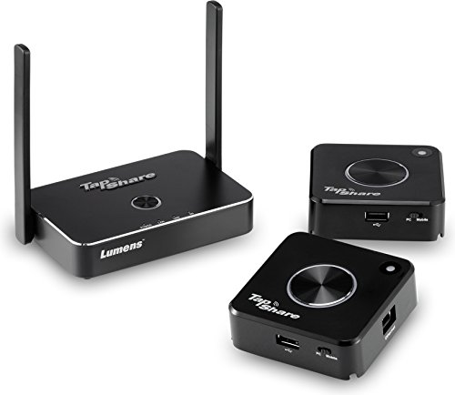Displayport Interface - Lumens TS20-2T1R Model TS20 TapShare Wireless Presentation System Bundle, Bundle Includes 1 Tapshare Box and 2 Tapshare Pods, Multi-interface Supports HDMI, Display Port, USB, and IP