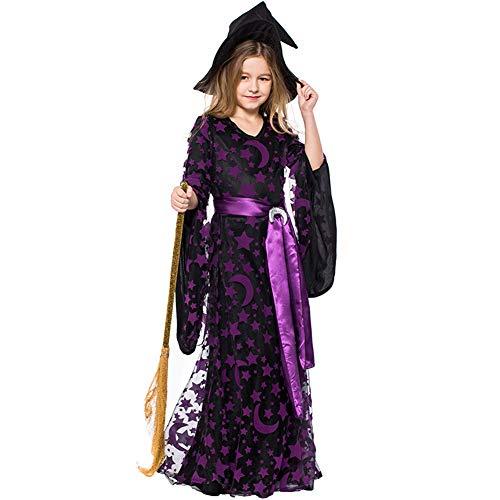 - LOLANTA Children Girls Halloween Witch Costume Moon Godness Cosplay Fancy Dress (6-8)