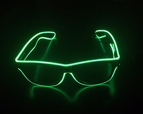 Light-up Illuminated Neon Electroluminescent EL Wire LED Glasses Light Shutter Frame Costumes Eyeglasses