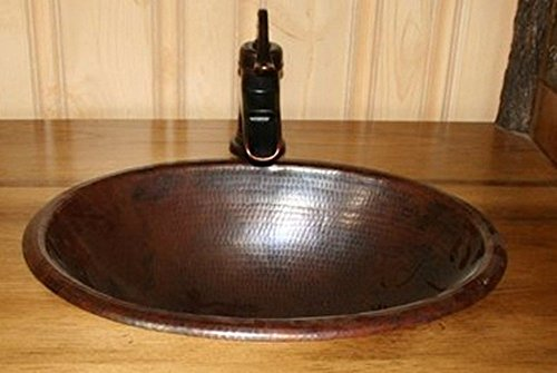 15 Round Vessel Or Drop In Hand Hammered Copper Bath Sink 2017