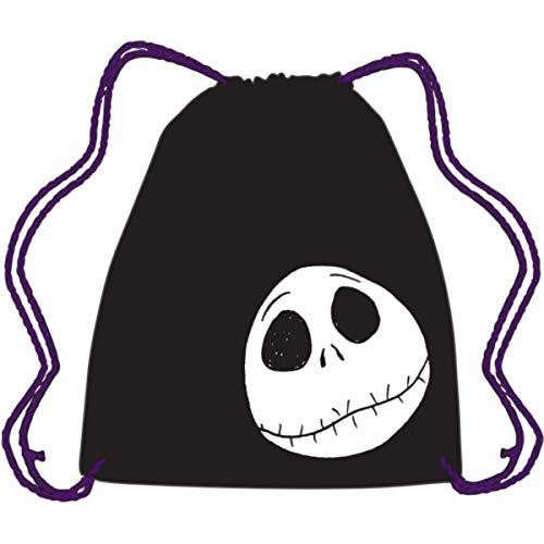 Nightmare Before Christmas Jack Skellington Face Drawstring Bag, 15 1/2 -