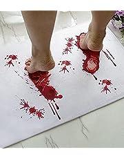 Halloween Bath Mat Bloody Footprint - Bath Mat Changes Color When Wet - Non-Slip Rug Halloween Scare Your Friends - Sheet, for Shower/Bathroom - Novelty Gag Gift