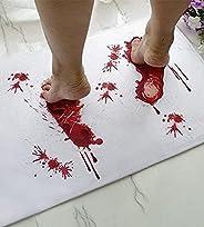 Halloween Bath Mat Bloody Footprint - Bath Mat Changes Color When Wet - Non-Slip Rug Halloween Scare Your Frie
