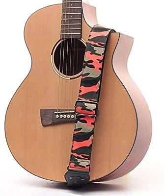GSC-musical Correa de Guitarra Patrón de Camuflaje Guitarra ...