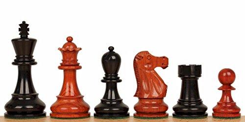 Deluxe Old Club Staunton Chess Set in Ebony & African Padauk - 3.75