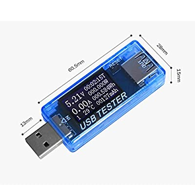 Voltage Tester, Leezo USB Digital Power Meter Tester Multimeter Current and Voltage Monitor, DC 5A 30V Amp Voltage Power Meter, Test Speed of Chargers, Cables, Capacity of Power Banks