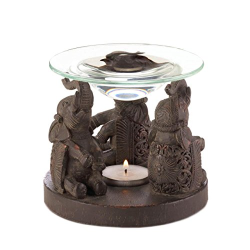 Oil Warmer Aromatherapy Essential Massage Asian Style Iol Warmers Elephant Statue Sculpture Scented Fragrance Tealight Candle Holder by DecorDuke (Image #1)