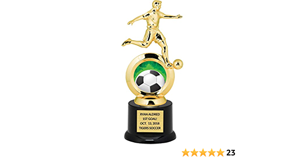 Soccer Trophy  Plaque  Award Winning Championship Champion Champ Team Trophy Personalized 8 x 8 12 Resin Boys Guys Men FREE ENGRAVING