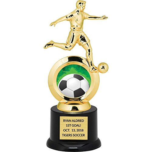 (Custom Boy's Soccer Trophy for Kids with Free Laser Engraving - 8.75 inch)
