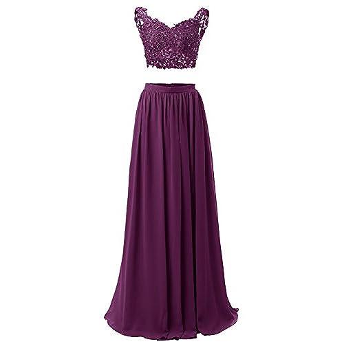 Long Two Piece Prom Dresses: Amazon.com