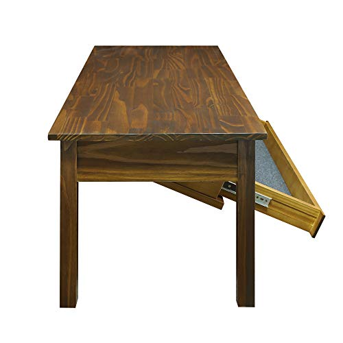 Casual Home 615-25 Kennedy Coffee Table  with Concealed Drawer, Concealment Furniture, Warm Brown by Casual Home (Image #4)