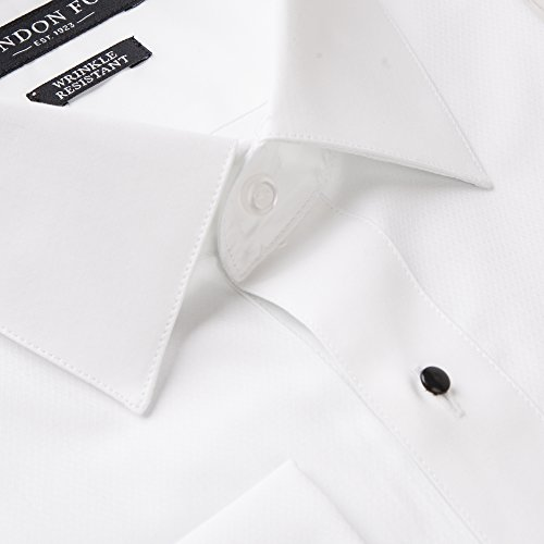 London Fog Tuxedo Shirts White Twill  LAY DOWNTuxedo Shirt for men