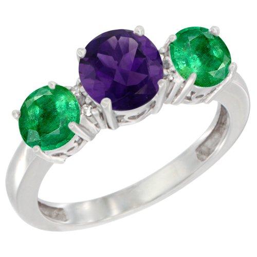 diamond and emerald ring - 6