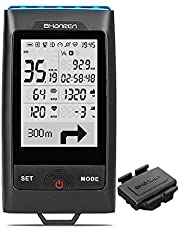 SHANREN GPS Bike Computer Di-Pro Built-in Front Light Bluetooth ANT+ Wireless Bike Computer Speedometer and Odometer, Rechargeable Cycling Computer for Most Bikes