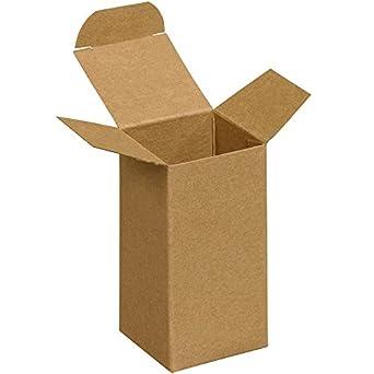 Aviditi RTS18 - Caja de cartones plegables para reversos, 5 x 5 x 10 cm, papel kraft (paquete de 500): Amazon.es: Amazon.es