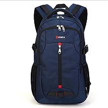 Naladoo KAKA 17 In Laptop Travel Backpack Large Capacity Vintage Hiking Daypack (Blue)