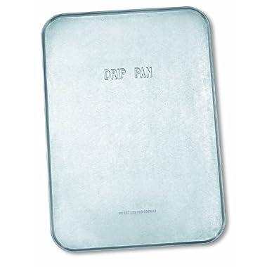 Lumax LX-1711 Silver 18  x 25  x 1/2  Galvanized Drip Pan