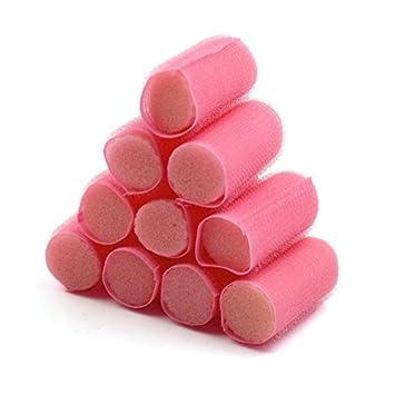 Herramientas eDealMax 20 piezas de esponja rosada DIY Pelo ondulado de Los bigudíes de Los rodillos