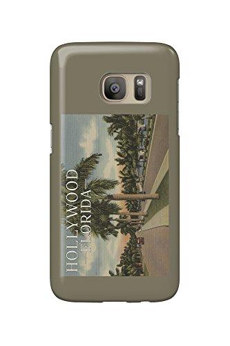 Hollywood, Florida - Boulevard and Vintage Cars - Vintage Postcard (Galaxy S7 Cell Phone Case, Slim Barely (Boulevard Postcard)