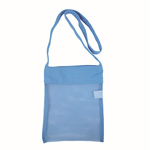 Eleanos Kids Outdoor Toys Collection Beachcomber Beach Shell Collection Mesh Tote Bag Blue