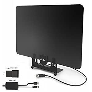 BESTHING 50 Mile Range Amplified HDTV Antenna with Detachable Amplifier Signal Booster, USB Power Supply, Stand and 13 Feet Highest Performance Coaxial Cable
