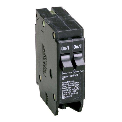 Eaton BD2020 Plug-In Mount Type BD Duplex Circuit Breaker 1-Pole (2) 20 Amp 120 Volt AC