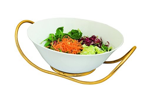 Mepra Due Ice Oro Salad Bowl with Stand by MEPRA