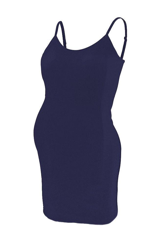 Beachcoco Women's Maternity Comfortable Seamless Camisole Slip Dress