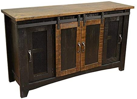 Crafters and Weavers Greenview Black 70″ TV Stand/Sideboard/Console Table
