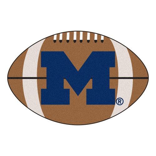- FANMATS NCAA University of Michigan Wolverines Nylon Face Football Rug