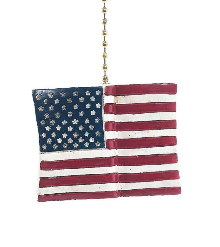 (USA Patriotic American Flag Fan Pull Decorative Light Chain by Clementine Design)