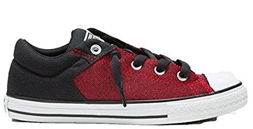 Converse Mädchen Girl Chuck Taylor High Street Casino/Black rot schwarz Low Top *** 647659F ***