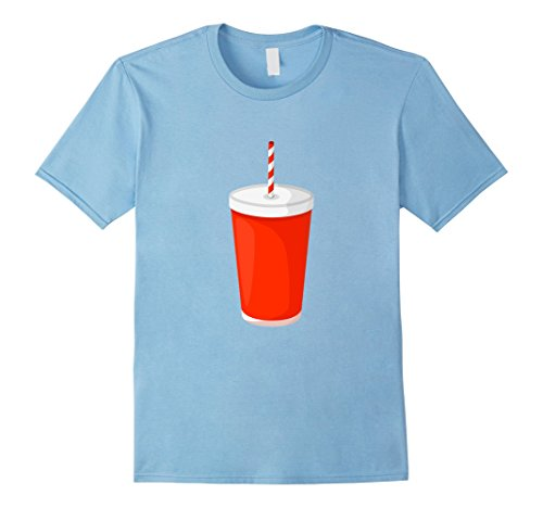 Mens Costume For Couples Popcorn-Soda Funny Lazy T-shirt XL Baby Blue (Popcorn Costume Baby)