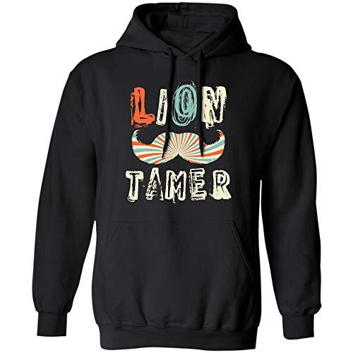 Vintage Lion Tamer T-Shirt (Hoodie;Black;2XL) ()