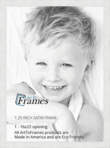Amazon.com - ArtToFrames 16x22 inch Satin White Frame Picture Frame ...