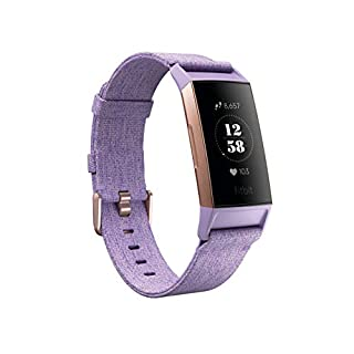 Fitbit Charge 3 SE Fitness Activity Tracker, Lavender Woven, One Size (S & L Bands Included) (B07FTL2WQF)   Amazon Products