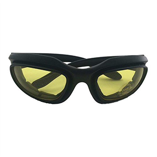 Motorcycle Riding Goggles/Outdoor Driving Sunglasses(Yellow)