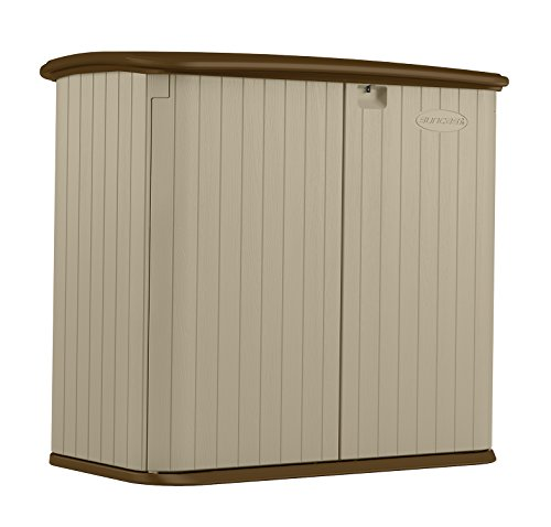 Suncast BMS3200 Horizontal Storage Shed (Resin Storage Wood Shed)