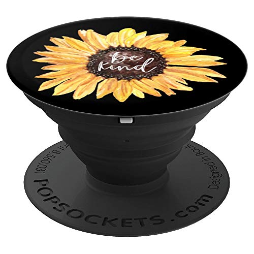 Sunflower Be Kind Watercolor Anti-bullying Graphic Design - PopSockets Grip and Stand for Phones and Tablets