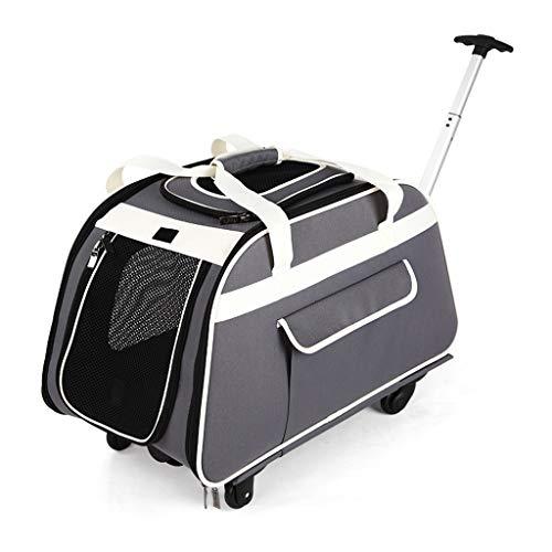 Mkaijzm Dog Stroller Pet Stroller Dog Out of The Carrying Bag Dog Bag Car Cage Pet Bag, Recommended Load-Bearing Within 14KG (Gray) ()