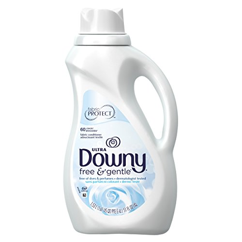 Downy Free & Gentle Liquid Fabric Conditioner (Fabric Softener), 51 FL OZ