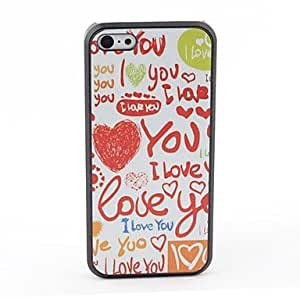 JJE Love Style Protective Back Case for iPhone 5C