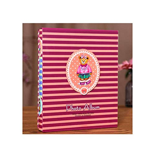 Wuhuizhenjingxiaobu Album, Inset Boxed Traditional Photo Album, Stylish and Youthful Design (can Accommodate 200 Photos, Blue) delicato (Color : C)