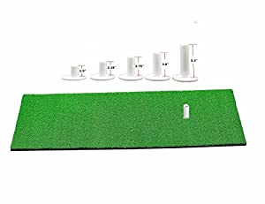 Golf Rubber Tees Driving Range Value 5 Pack, Mixed Size or 5 Same Size for Practice Mat