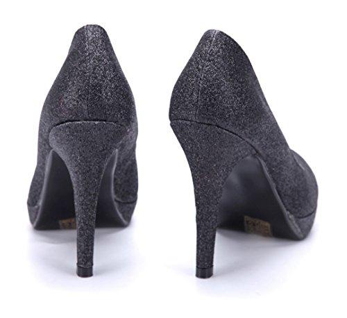 Schuhtempel24 Damen Schuhe Klassische Pumps Stiletto 11 cm High Heels Schwarz