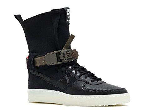 Nike Af1Downtown Hi SP/Acronym Basketball Shoes, Men Black / Black / Orange (Black / Black-bright Crimson)