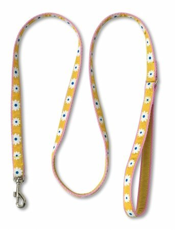 Doggles LEDR03 4 ft Leash for Dress -Yellow-Pink (Dickens Dress)